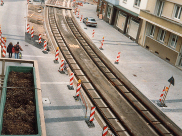 Baustelle B-Linie April 1995